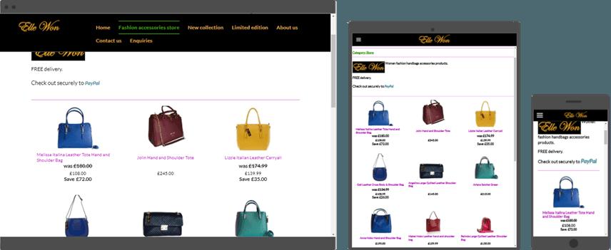 e-commerce design shopping cart