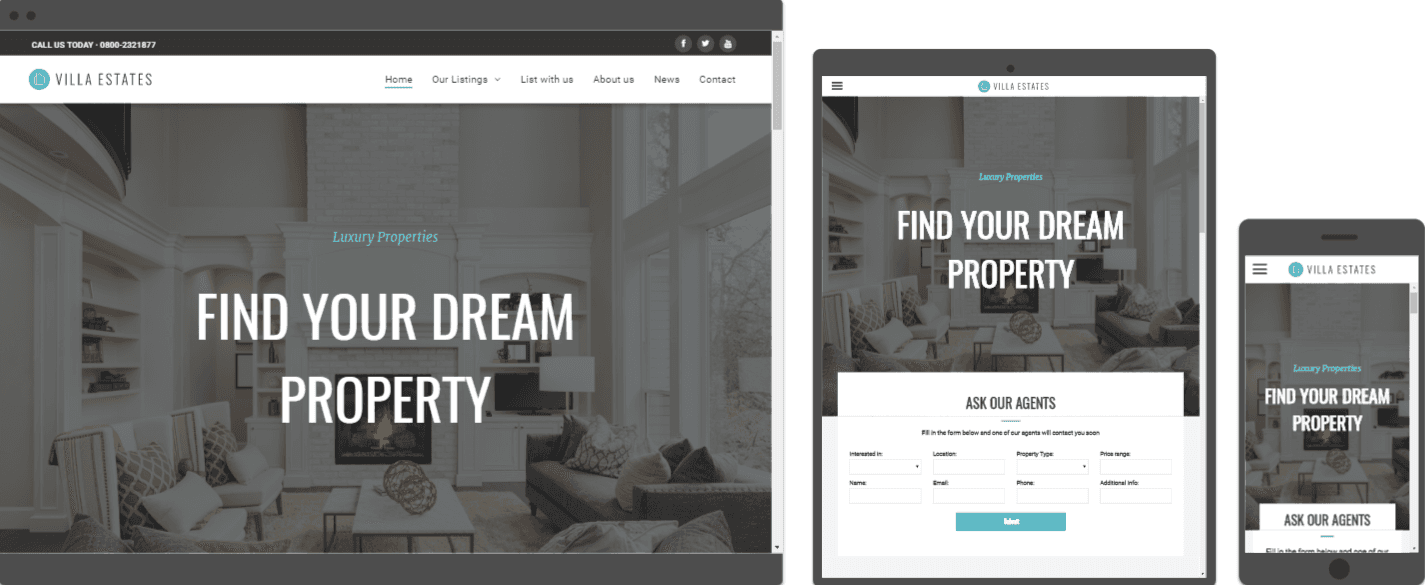 estate agency web design template