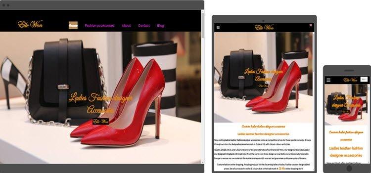 fashion retail website design online