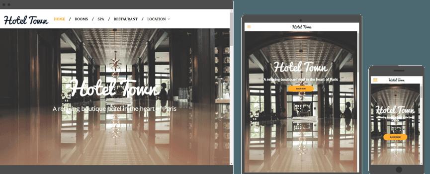 web design for hotel