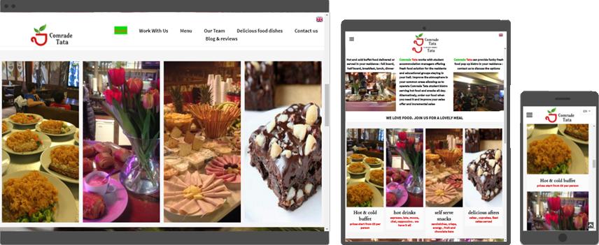 web design for restaurant