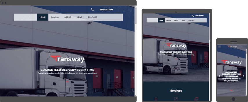 web design template for shipping