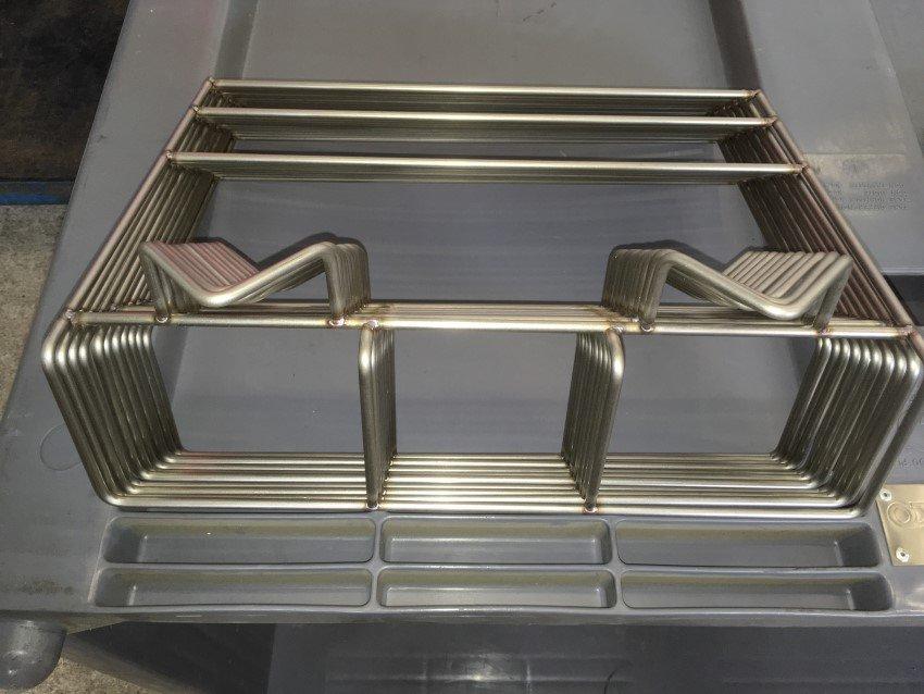 Particolare macchinario per lavorazione acciaio inox di Michielin a Vedelago