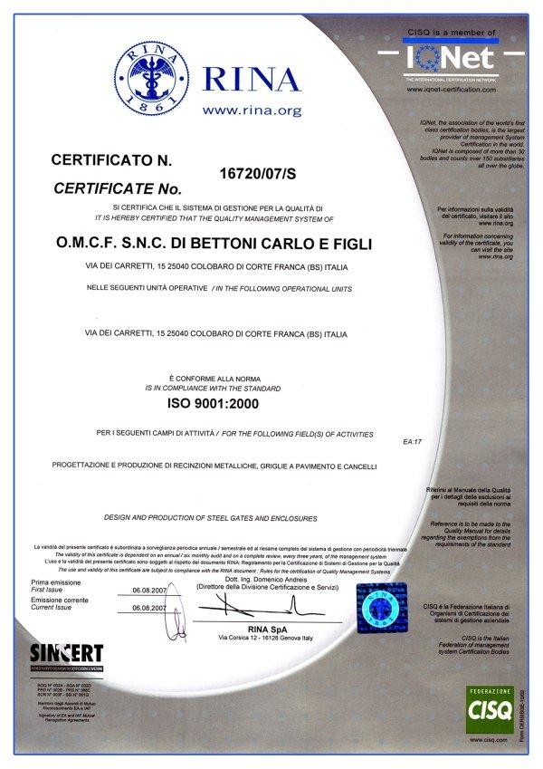 certificazione di gestione per la qualità