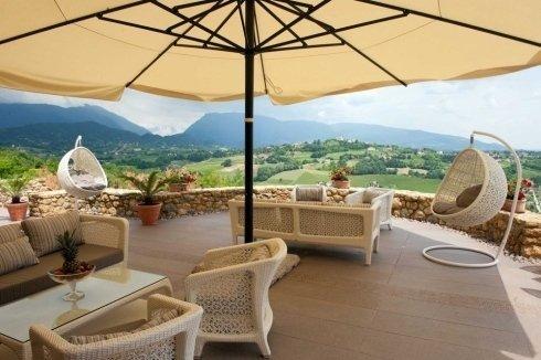 ristorante con veranda cà del poggio Treviso