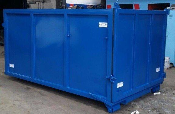 cassone blu per raccolta rifiuti