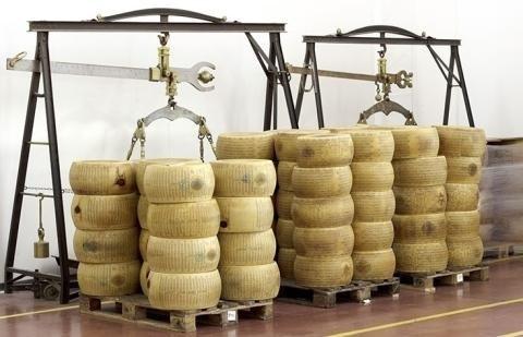 trasporto forme parmigiano reggiano