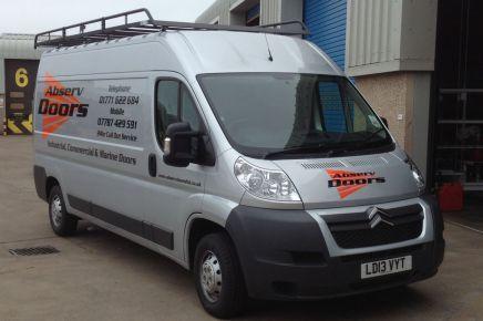 Our van in Aberdeenshire