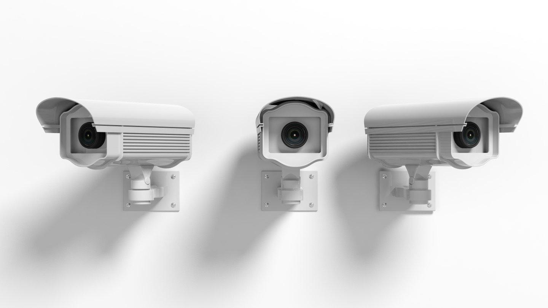 Videocamera di sorveglianza con obiettivo fish eye per interni