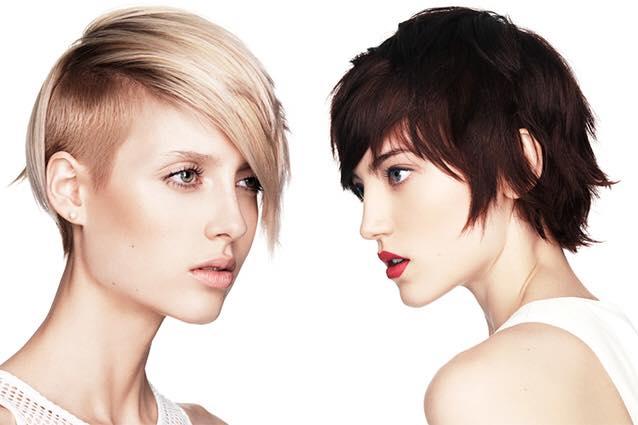 Due modelle con taglio corto biondo e castano