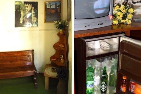 Camere con servizio frigo bar.