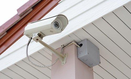 una telecamera di sicurezza a circuito chiuso