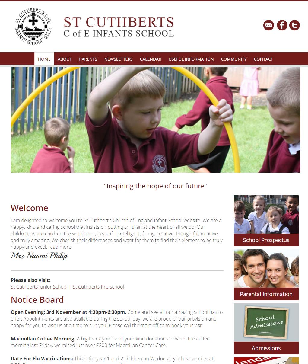 Website design for schools in somerset