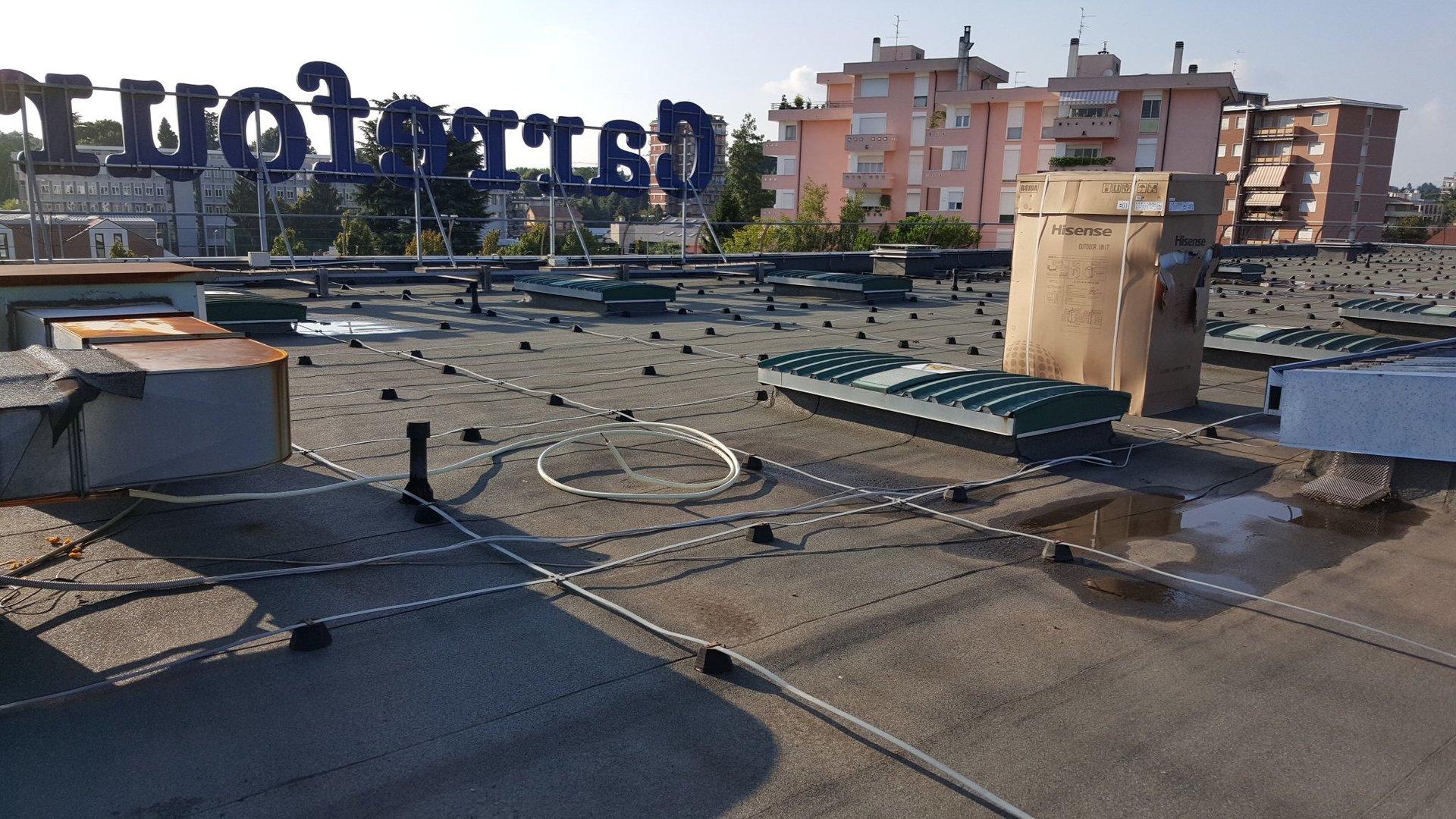 Vista del tetto del locale