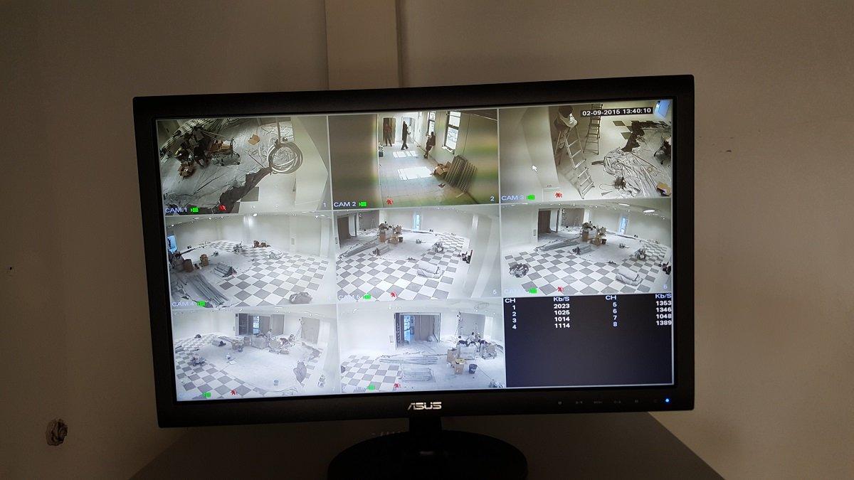 Schermo di controllo del sistema di sorveglianza