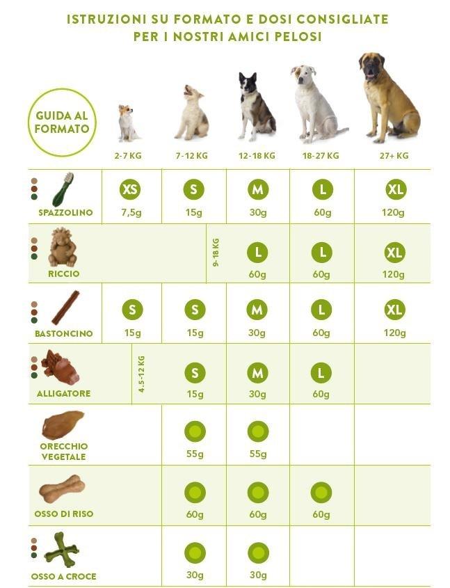 scheda di istruzioni per cibo per cani