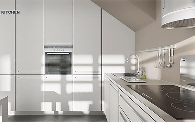 cucina moderna a parete