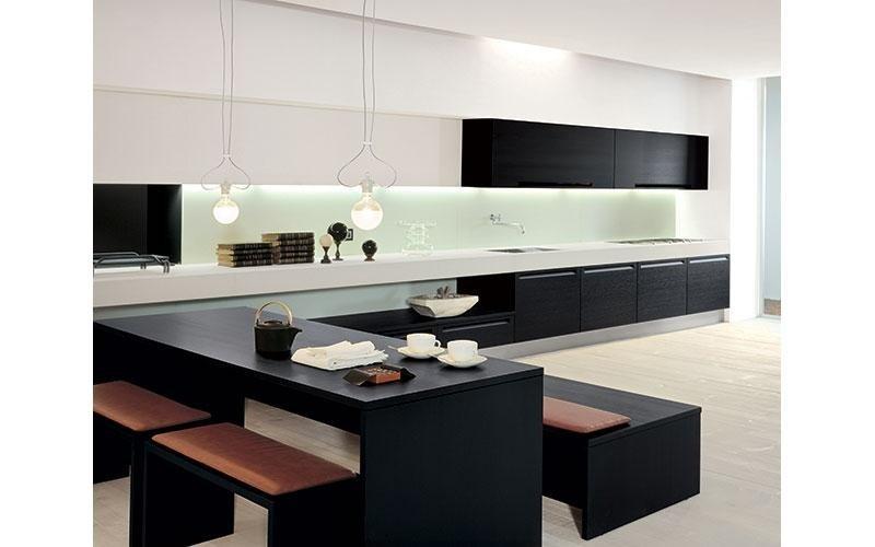 tavolo da cucina moderna scuro