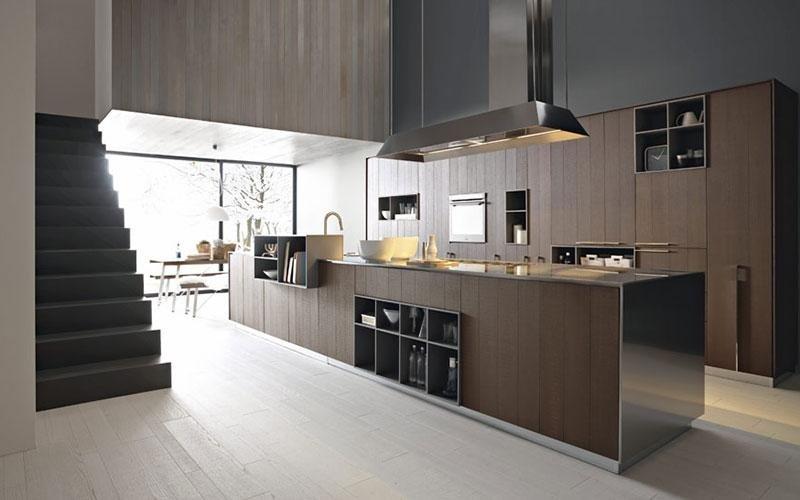 cucina moderna scura