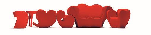 divani e poltrone rosse in stile moderno