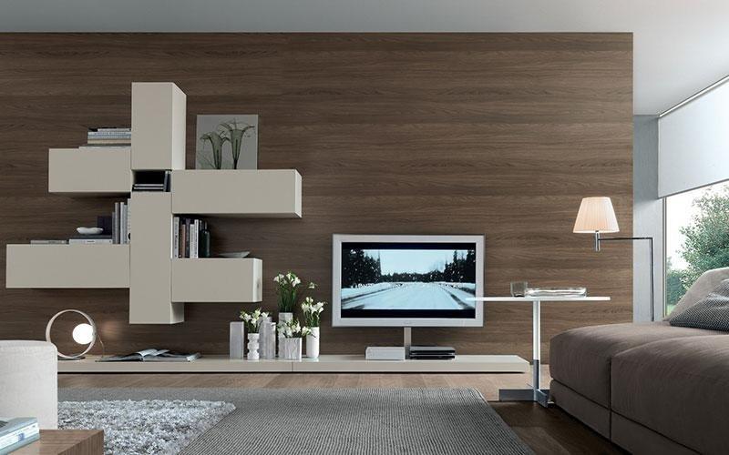 soggiorno di design bianco