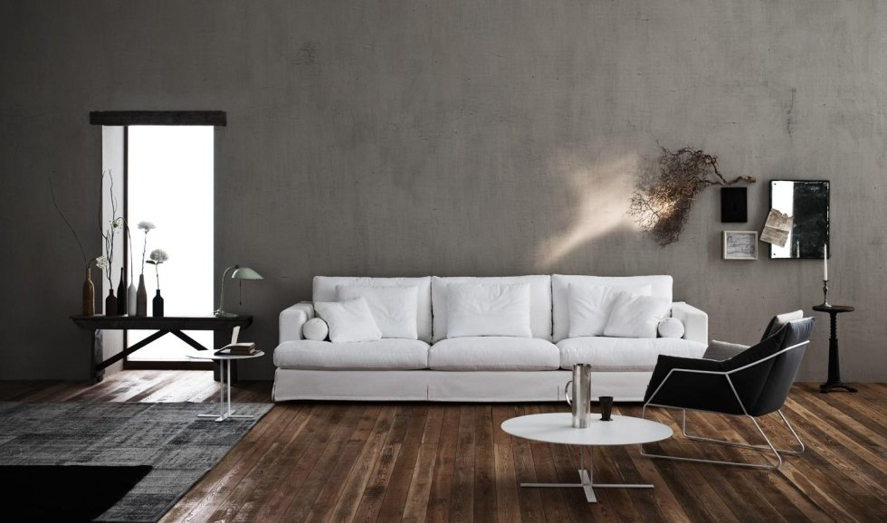 divano bianco tre posti