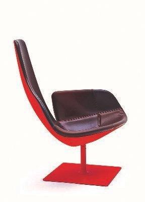 poltrona rossa in stile moderno