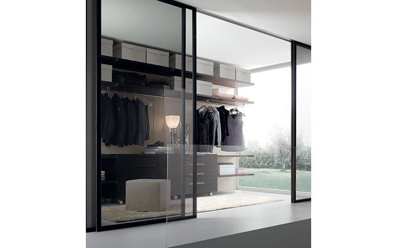 cabina armadio con ingresso in vetri