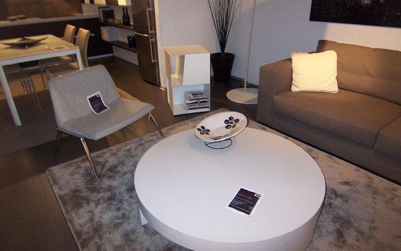 tavolino da salotto bianco rotondo
