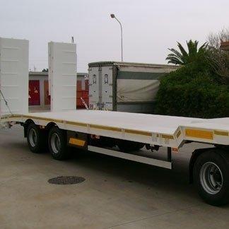 rimorchio trasporto macchine operatrice (scavatrice)
