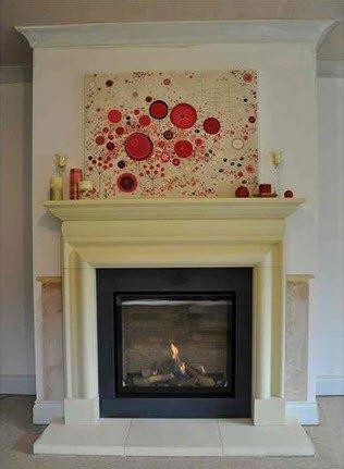 Cast Bath Stone Bolection fire surround with the latest Dru gas fire