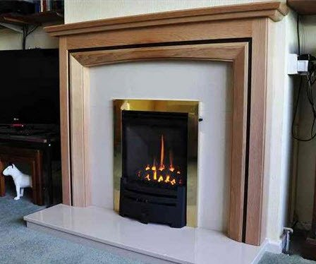 High efficiency Evora gas fire