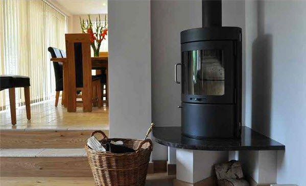 Woodburning & multi-fuel corner stove