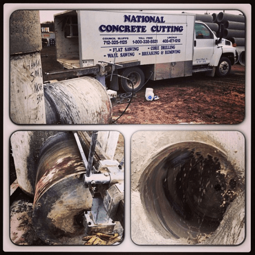 Concrete pipes that need to be broken up.