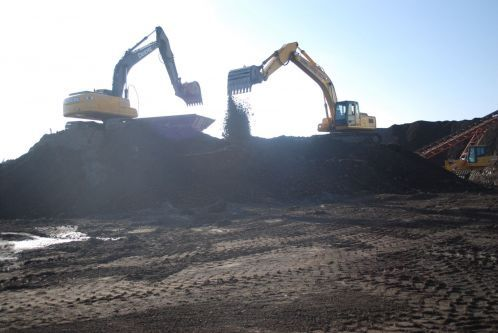 Site of a highway grinding project in Omaha