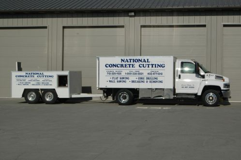 Trucks used for concrete cutting in Omaha, NE