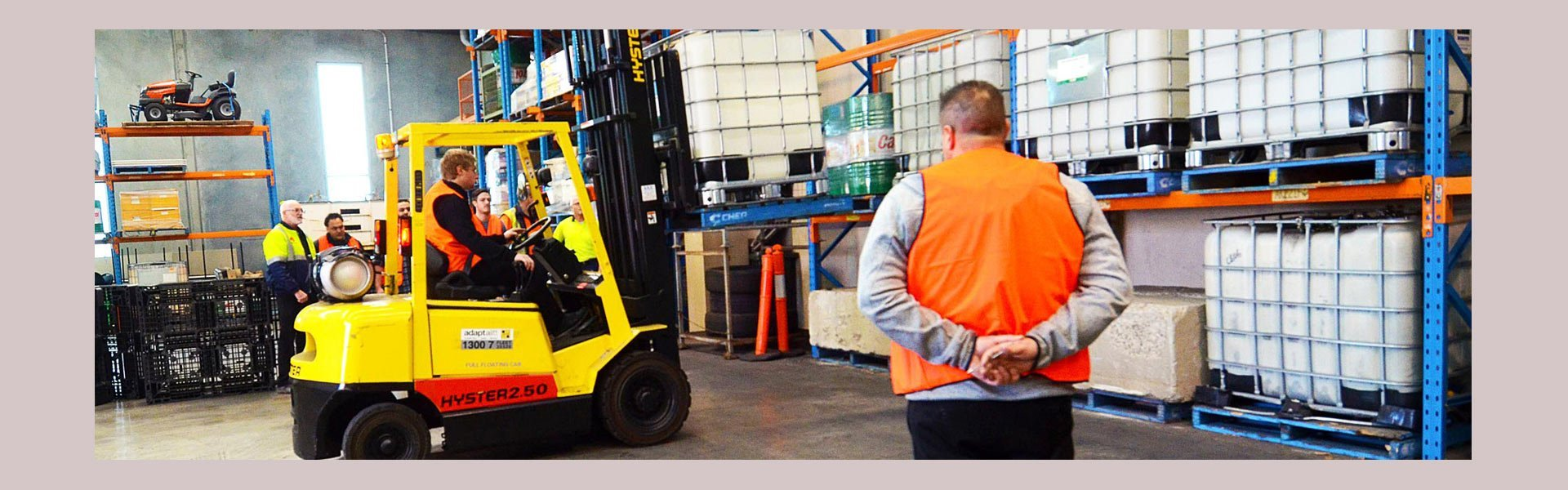 australia wide forklift training center instructor over seeing forklift trainee