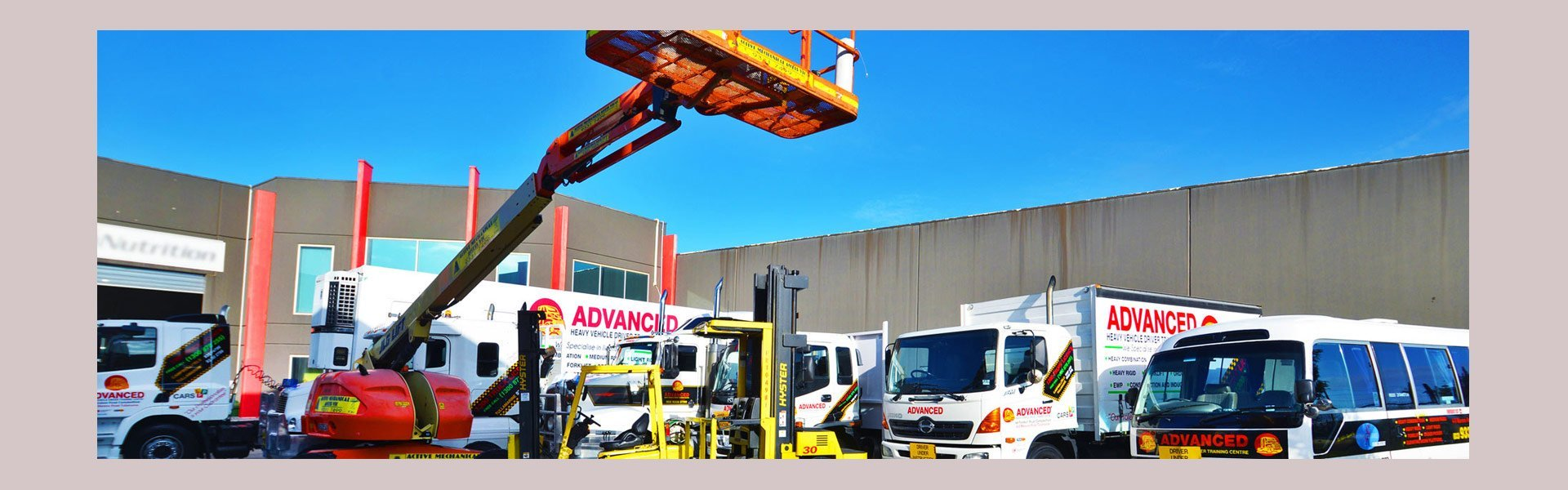 australia wide forklift training centre training veichles