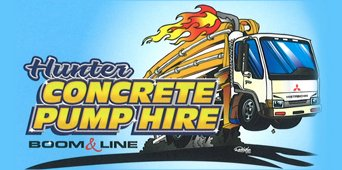 hunter concrete pumping hire business logo