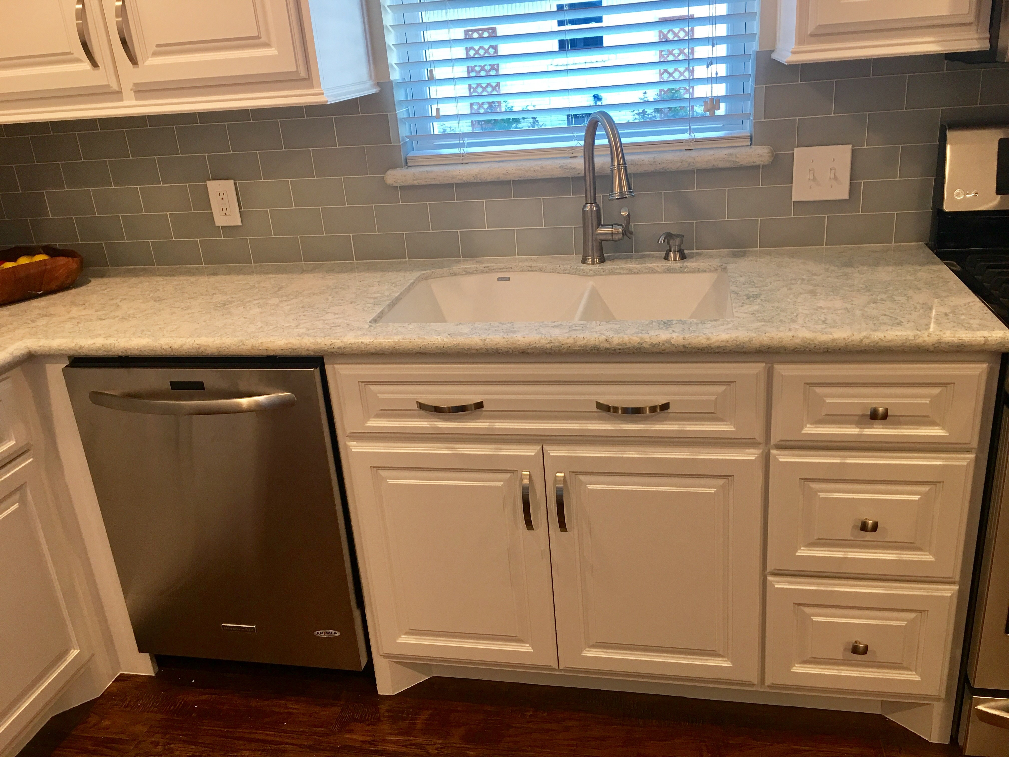 kitchen countertops and sink after