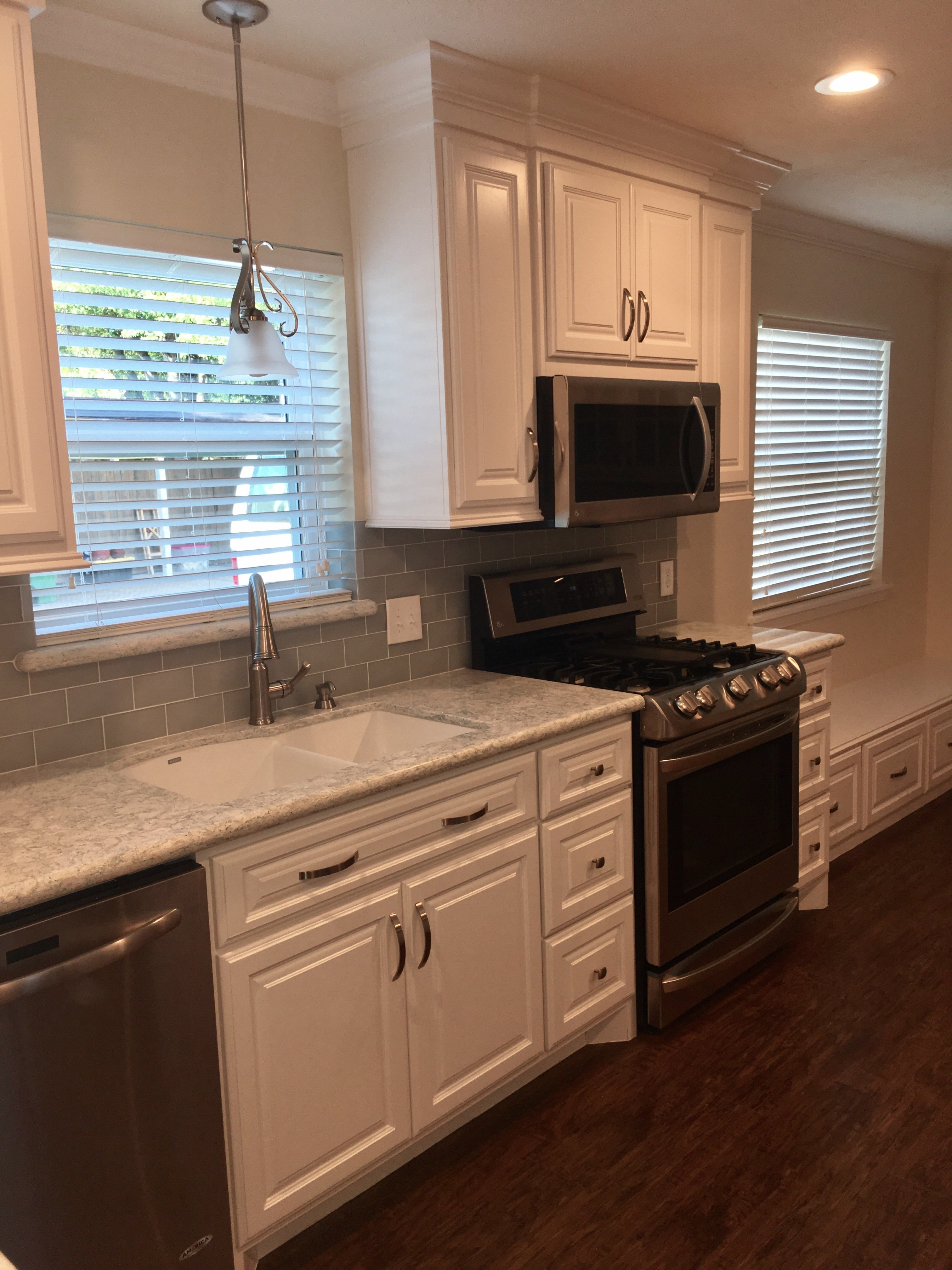 Kitchen countertops and cabinets after