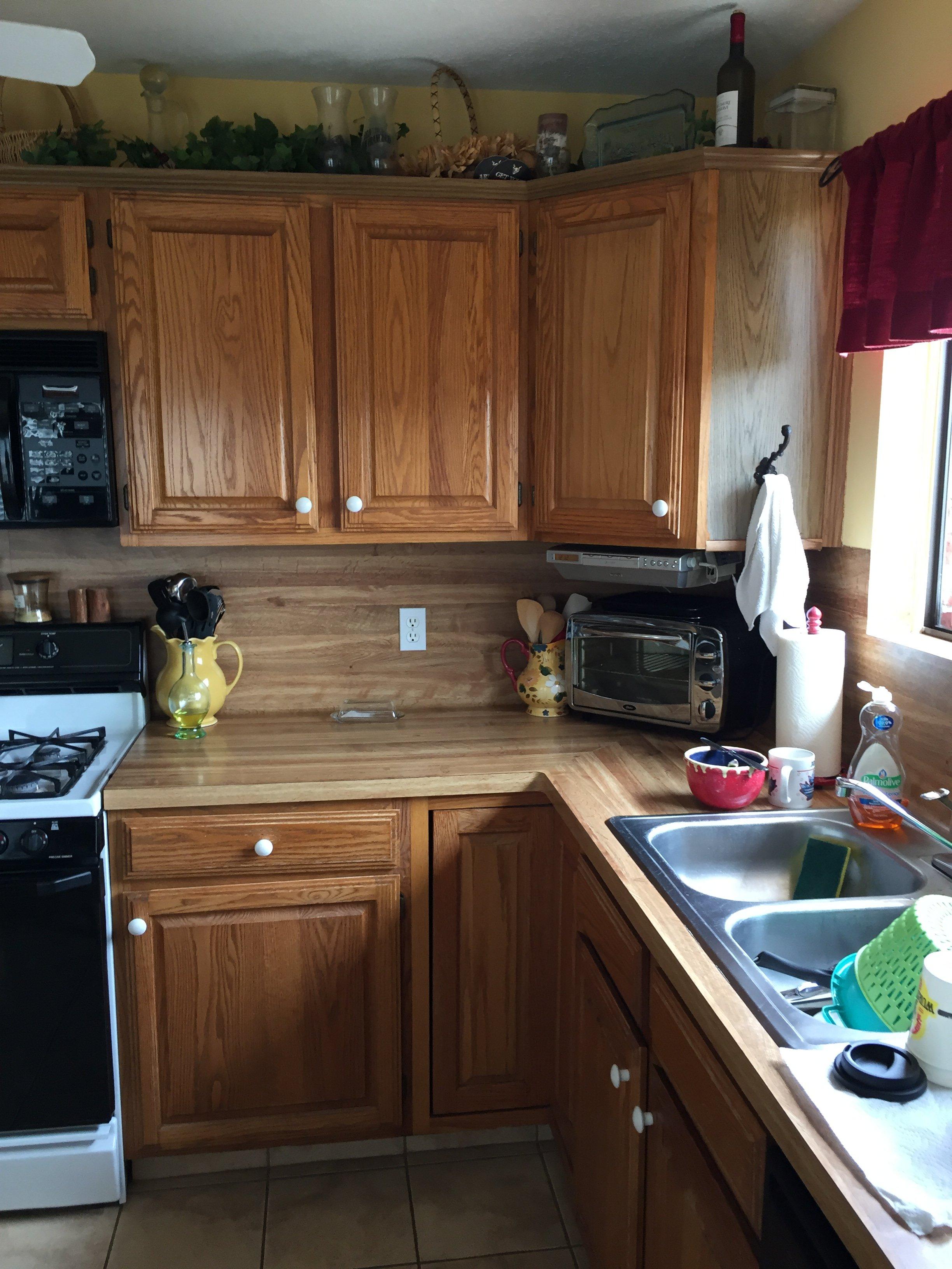 Kitchen countertops before
