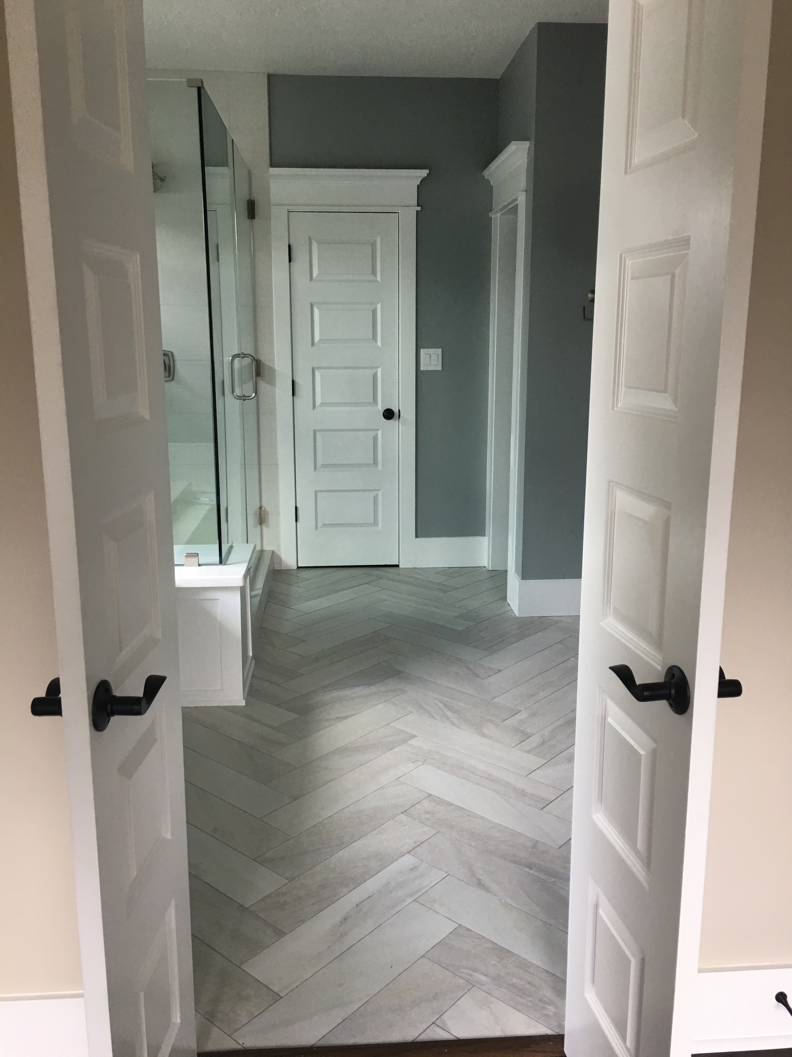 Master bathroom flooring