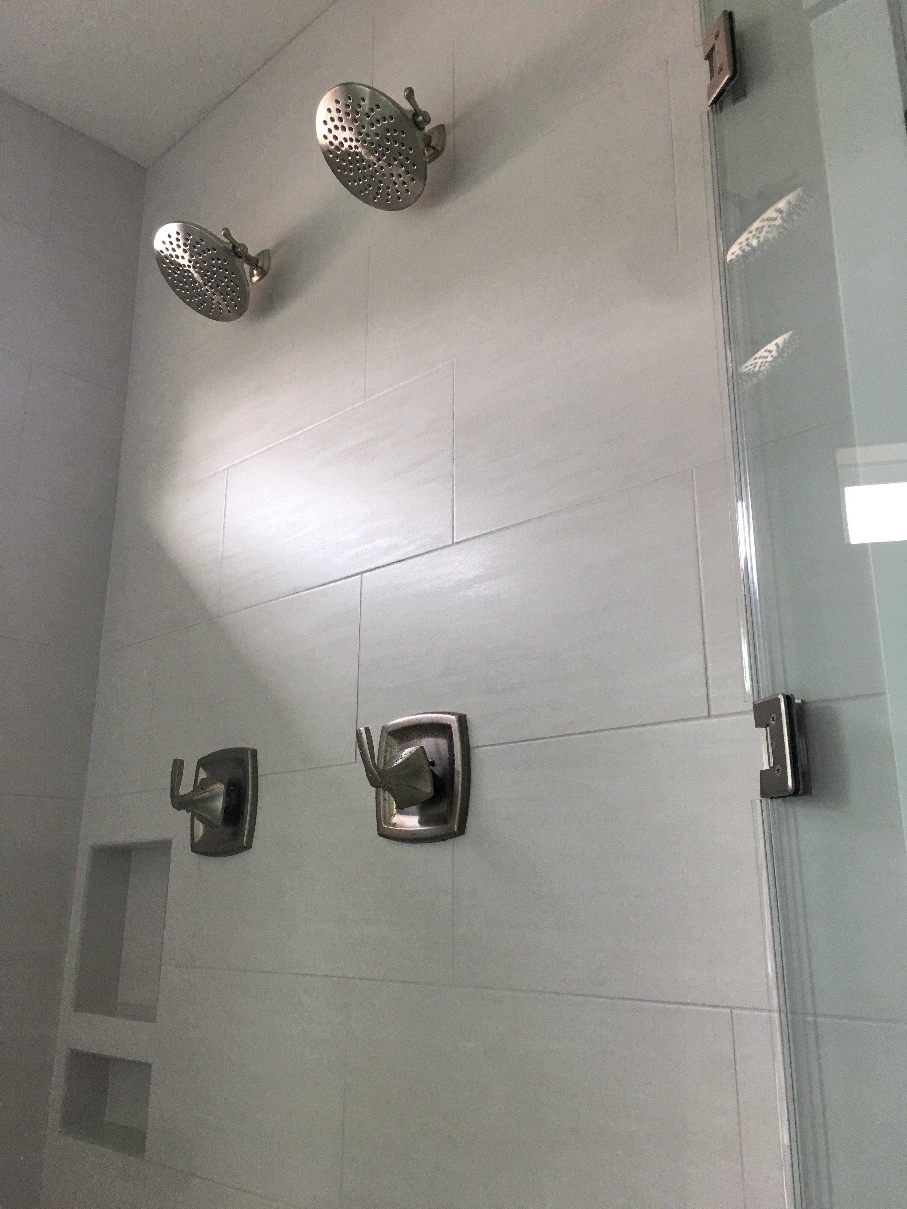 Shower tile backsplash
