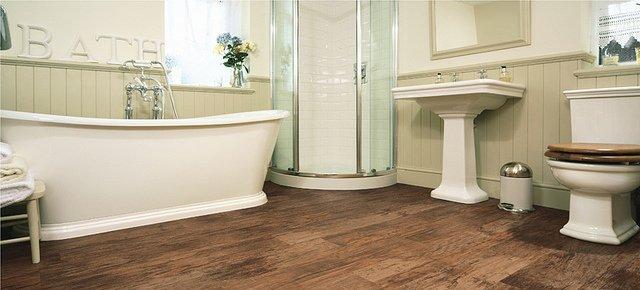 Bathroom hardwood flooring