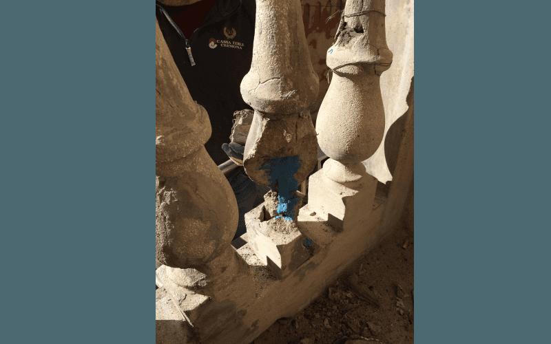 ristrutturazione piedi balcone