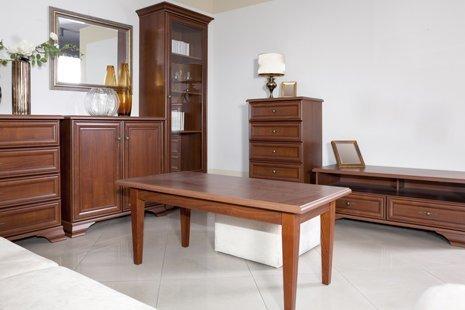 salotto con mobili in legno