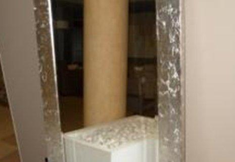 specchiera da parete con cornice in argento