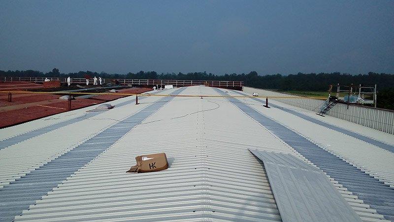Smantellamento copertura di amianto per capannoni industriali