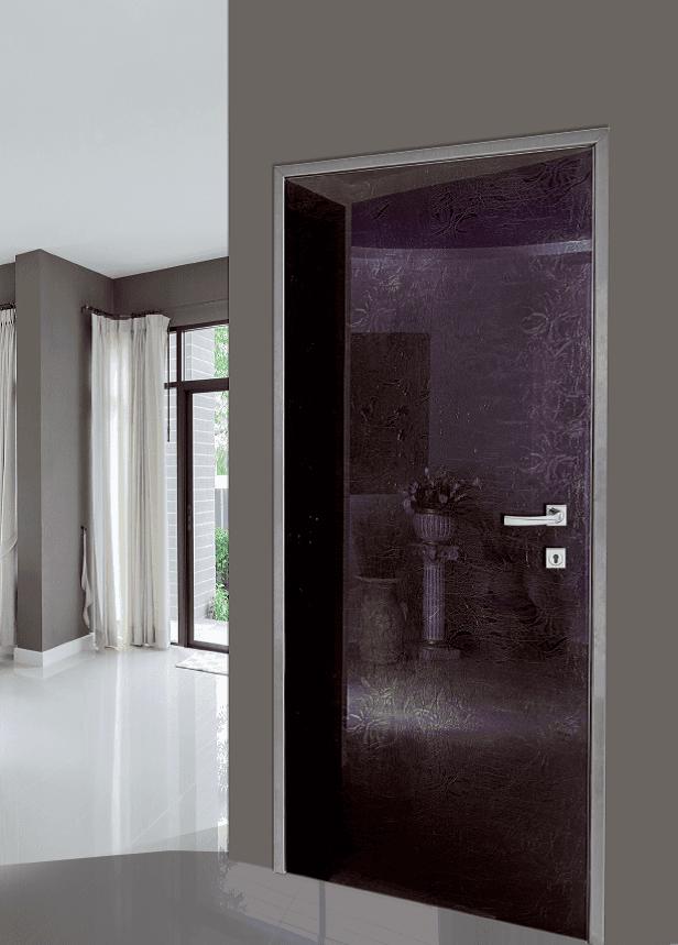 Modello F 137, vetro con tessuto applicato